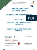 Practica 5 Investigacion de Operaciones