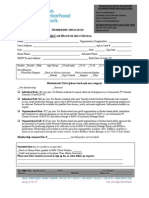 Membership Application Form 2.10.11