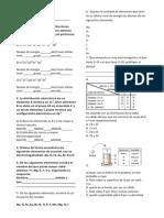 Evaluacion de Quimica Tabla Periodica