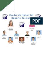 Cuadro de Honor Del Deporte Rosciano 2011