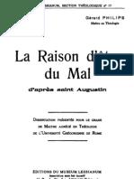 La Raison d Etre Du Mal d Apres Saint Augustin 000000571