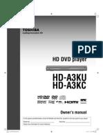 Toshiba DVD HD-A3KU Owners Manual