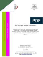 ARTICULO_27_estudio Teorico, Derecho Comparado