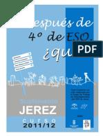 ¿Y después de 4º de E.S.O.... qué? Oferta formativa en Jerez. Curso 2001/12