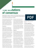 The limitationsof consensus