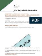 Carta de Los Andes 3 La Historia Sagrada de Los Andes