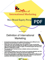 Principles of International Marketing Max Brand Equity