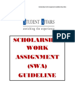 Scholarship Work Assignment (SWA) Guideline
