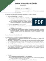 Cours P1 Maieutique Dr JOGUET Circulation Placentaire-UE8-UE11