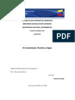 Conocimiento Posicion y Origen Metodologia de La Investigacion I