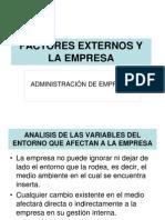Factores Externos y La Empresa