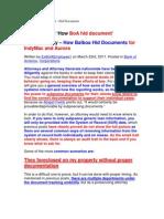 Aurora - IndyMac - BoA - Hid Documents