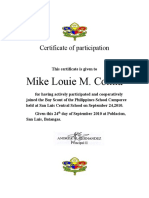 Certificate of Participation-GSP