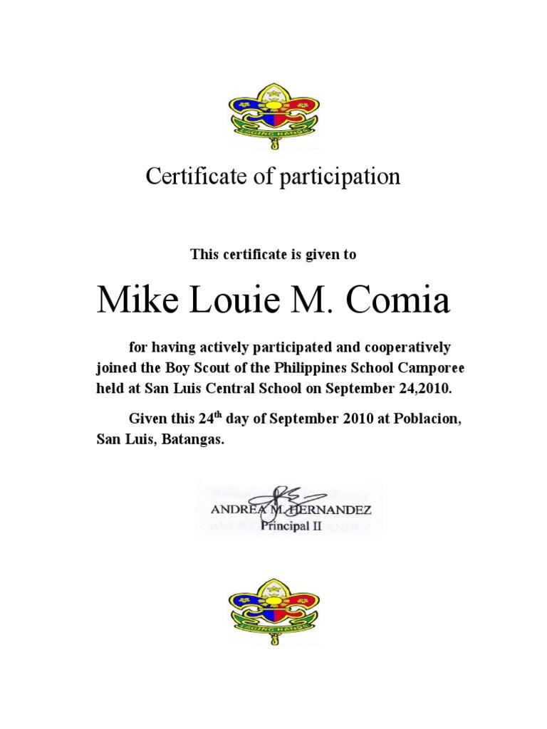 Cub scout certificate of appreciation template insrenterprises cub scout certificate of appreciation template certificate of participation gsp cub scout certificate of appreciation template yadclub Images