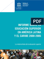 Informe Educacion Superior UNESCO -2000-2005