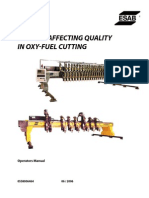 Oxy Fuel Cutting Quality