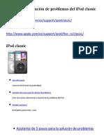 Asistente de solución de problemas del iPod classic