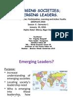 DESPLAY Season 6 Semester 1 - Emerging Societies Emerging Leaders - Niger