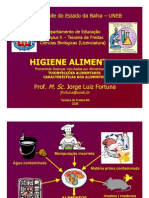 HIGIENE ALIMENTAR 02 - Toxinfecções Alimentares & Características dos Alimentos
