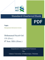 MIS Assignment on Standard Chartered Bank
