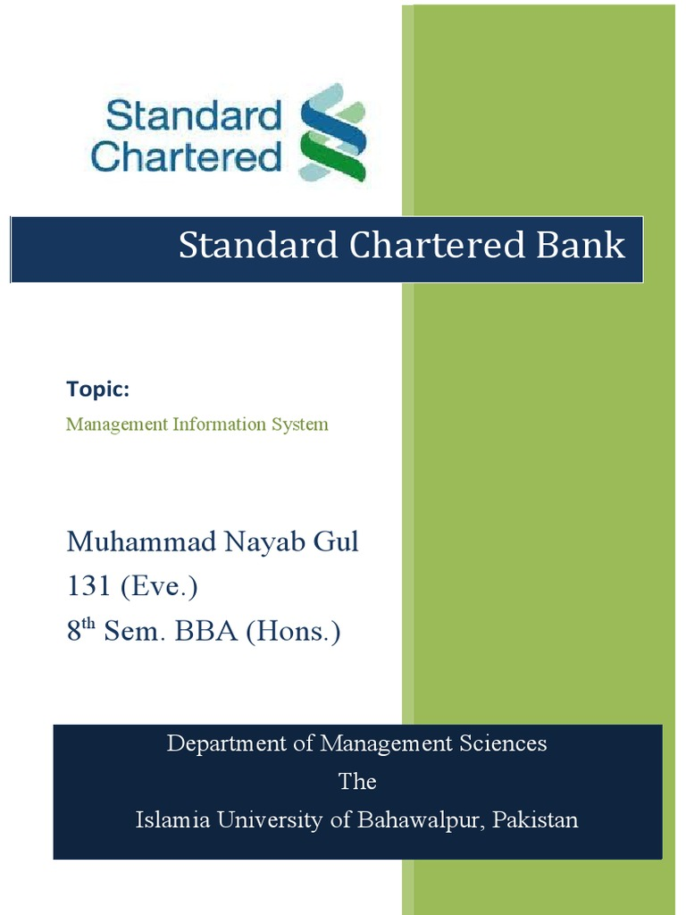 intern report on standard chartered bank 2018 investment banking industry report intern: standard chartered bank: beijing: and corporate finance  internship at standard chartered bank their ibd.