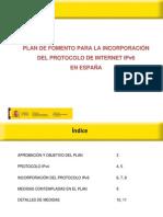 PresentacionPlanFomentoIPv6