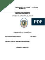 Analisis de Lectura Organizacion de Un Curriculo Cap 6 Marlon