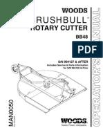 Woods BrushBull Rotary Cutter MAN0050