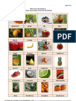 ESL Fruit Vocabulary