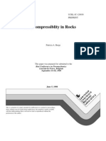 Pore Compressiblity in Rocks