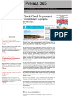 Se presentó oficialmente la página municipal · Prensa 365