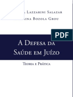 A Defesa da Saude em Juizo trecho do livro para divulgação