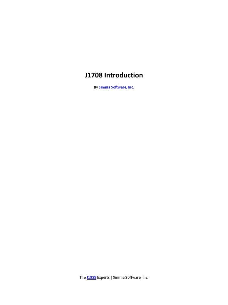 j1708 Introduction | Computer Network | Telecommunications