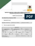 Solicitud Movilidad Estudiantil 2011 - Copia