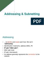 Addressing & Subneting