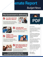 Labor Senate Report, Budget News 2011