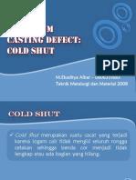 Aluminium Casting Defect-Cold Shut