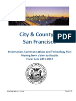 City & County of San Francisco - Information, Communications and Technology Plan Moving from Vision to Results Fiscal Year 2011-2012