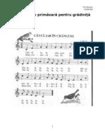 Primavara - Cantece pentru gradinita