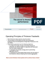 The Secret to Thickener Performance