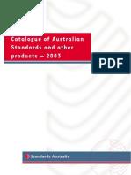 Standards Catalogue 2009