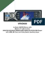 Car Stereo Vre630