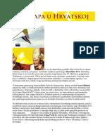 Benedikt XVI i Hrvati