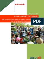 báo cáo Khảo sát nhanh ảnh hưởng của biến động giá đến đời sống của các nhóm dân cư tại một số địa bàn đô thị điển hình