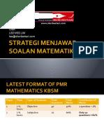 1.Strategi Menjawab Soalan Matematik Pmr 2011