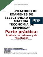 Recopilacion Ejercicios Selectividad BALANCES 2007-2010