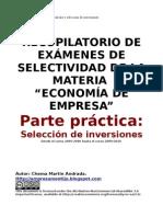 Recopilacion Ejercicios Selectividad Inversiones 2007-2010