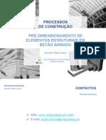 Pre-dimensionamento - Estruturas de Betão
