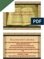 Dental Management in Bleeding Disorder 2006 for Web [Compatibility Mode]