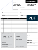 Esl Order Form